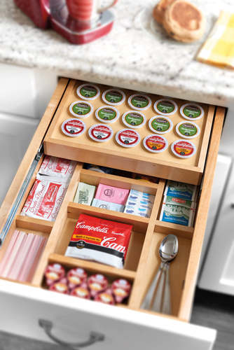 Drawer organizers for Premade kitchen drawers