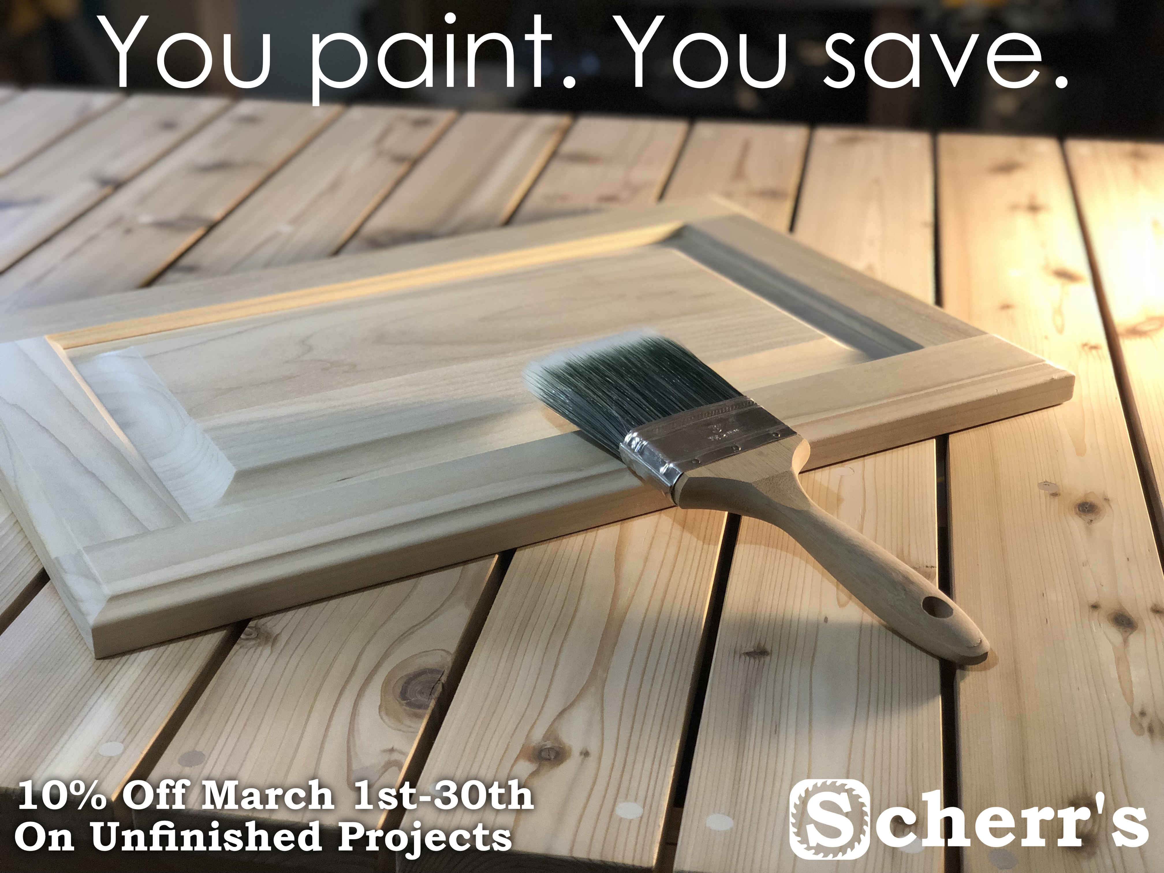 You Paint. You Save! Sale - March 2018